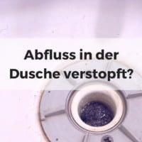 Abfluss in der Dusche verstopft? Siphon reinigen in 3 Minuten