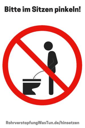 Bitte im Sitzen Pinkeln als Schild zum Ausdrucken