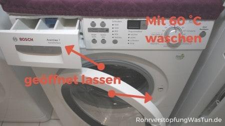 Was tun gegen muffigen Geruch der Waschmaschine