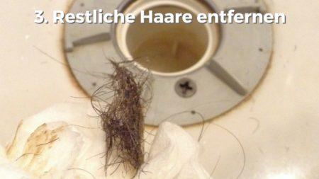 Hausmittel Haare aus Duschabfluss entfernen
