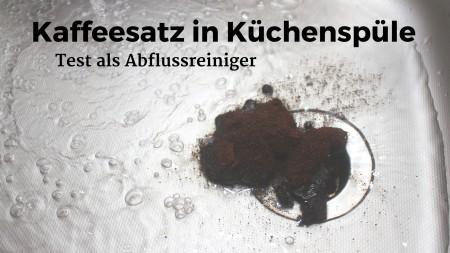Kaffeesatz nicht zum Reinigen der Küchenspüle geeignet