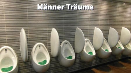 Pissoirs in öffentlicher Männer-Toilette