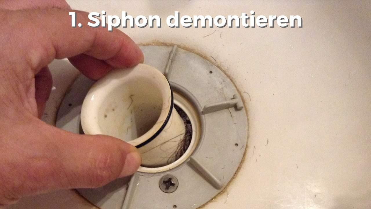 abfluss in der dusche verstopft? siphon reinigen in 3  ~ Wasserhahn Entkalken Ohne Abschrauben