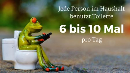 Jede Person benutzt WC 6 bis 10 Mal pro Tag